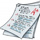 11431473-a-cartoon-exam-with-an-excellent-mark